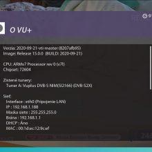 Nová enigma VTI 15 pre prijímače VU+
